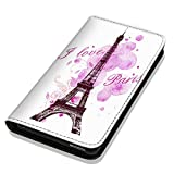 Hülle Galaxy S7 Hülle Samsung S7 G930F Schutzhülle Handyhülle Flip Cover Case Samsung Galaxy S7 G930F (OM1078 Eifelturm Paris Frankreich Rosa Pink)