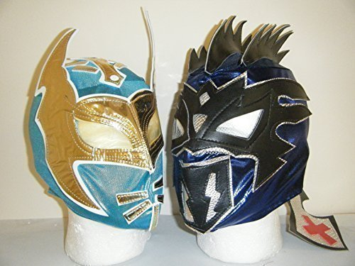 KALISTO & SIN CARA CHILDRENS ZIP UP WRESTLING MASKS (BOTH MASKS) by WRESTLING MASKS UK ()