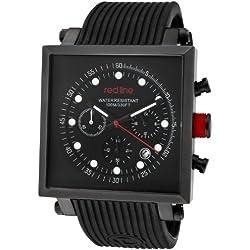 Red Line-rl-50036-bb-01-Zeigt Herren-Quartz Chronograph Armband Gummi schwarz
