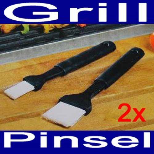 Grillpinsel SET 2tlg., Kunststoff, 2x Grill BBQ Barbeque Pinsel Zubehör Besteck (LHS)
