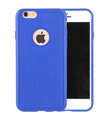 SDO™ Luxury Grid Pattern Dotted Finish Heat Dissipating Soft Back Case Cover for Apple iPhone 4 / 4S (Blue)  available at amazon for Rs.175