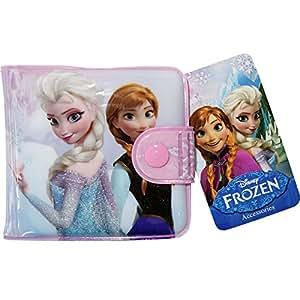 Disney Frozen Anna Elsa Girls Bifold Wallet Purse Credit Card ID Card Holder Kids Childrens Toy
