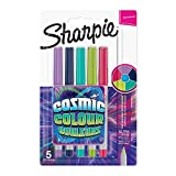 Sharpie Permanent Markers, Ultra Fine Point, Cosmic Colour, Limited Edition, 5 Count