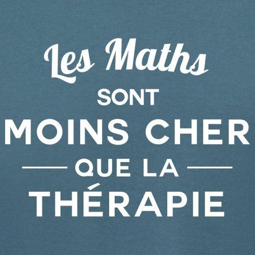 Les maths sont moins cher que la thérapie - Femme T-Shirt - 14 couleur Bleu