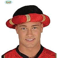roi noir et rouge pour le déguisement Turban magus indien Maharaja