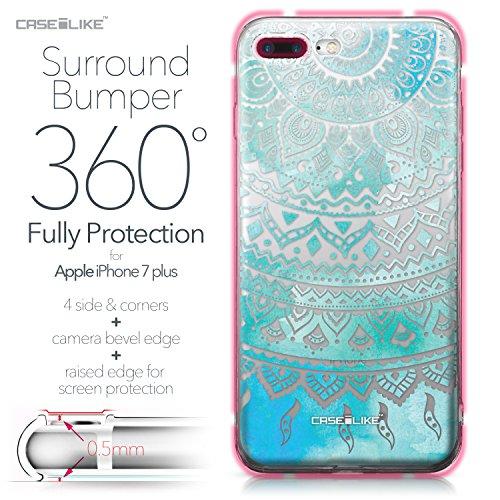 CASEiLIKE iPhone 7 Hülle, iPhone 7 TPU Schutzhülle Tasche Case Cover, Comic Beschriftung 2914, Kratzfest Weich Flexibel Silikon für Apple iPhone 7 Indische Linie Kunst 2066