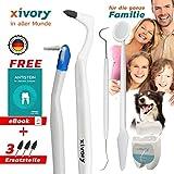 Xivory-Set 8 in 1 Set 4 Zahnsteinentferner mit Zahnseide, Zahnspiegel, Zahnarzt-Sonde, Interdentalbürste für Zahnreinigung Weisse Zähne Zahnaufhellung