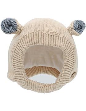 YOPINDO bebé sombrero de invierno de la niña caliente suave tejer lana Earflap Crochet Animal Beanie Cap
