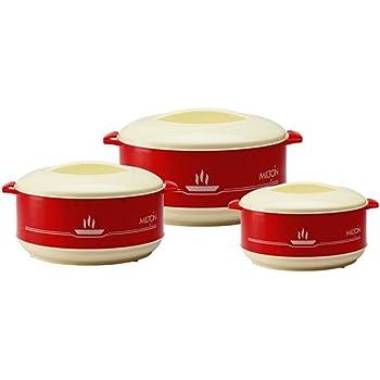 Milton Buffet Junior Plastic Casserole Gift Set, 3-Pieces, Red