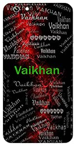 Vaikhan (Lord Vishnu) Name & Sign Printed All over customize & Personalized!! Protective back cover for your Smart Phone : HTC one M-9