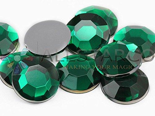 18 mm vert émeraude H106 strass en acrylique de haute qualité, sans nickel. Lead Pro - 40 pièces