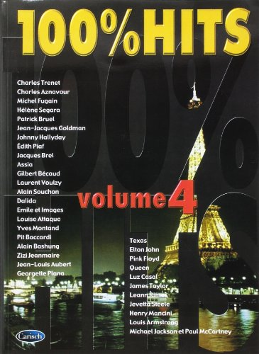 100% Hits Volume 4 Piano Vocal Guitar Book
