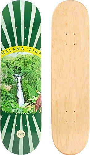 JUCKER HAWAII Skateboard/Cruiser Decks - Nuha, Bamboo, Skowl, B.Inks, Shabby, Malama Kai, Malama Aina, Valley Isle - Diverse Shapes und Designs Skateboard/Cruiser Deck MALAMA AINA 7.75 -