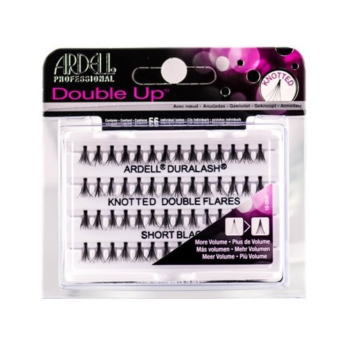 Ardell Double Up Individual Lashes - Knotted Double Flares - Short Black