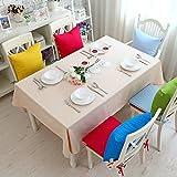 Bbdsj Mantel de color sólido,Mantel casero moderno,El paño de tabla simple,100% algodón El paño de tabla de la manera Mantel Mantel beige-Beige 130x180cm(51x71inch)