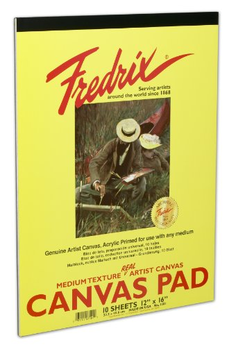 Fredrix Canvas Pad (Fredrix 3496 Canvas Pads, 10 by 12-Inch by Fredrix)