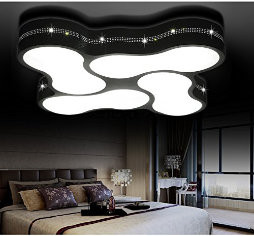 LED Deckenleuchte 2029 mit Fernbedienung Lichtfarbe/ Helligkeit einstellbar Acryl-Schirm weißlackierte Metallrahmen durchbohrte Design Energieeffizienzklasse: A+ (2029-4 48w)LED Wohnzimmerleuchte Kronleuchte Pendelleuchte DeckenlampeDeckenstrahler LED Deckenleuchte Hängeleuchte Hängelampe LED lampe LED Leuchte Beleuchtung Einbauleuchte Wandleuchte Spot Lüster