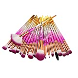 AMUSTER 20pcs Kosmetik Pinsel Make-up Pinsel Sets Verfassungs Bürsten Sat Kosmetik Komplett Eye Kit Make-up Pinsel Sets Kits Tools Werkzeuge Foundation Pinsel (One size, D)