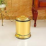 LJ Mülleimer, europäische luxuriöse Gold Doppel-Papierkorb ( größe : 6L )