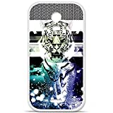Housse Coque Etui Wiko Darkmoon silicone gel Protection arrière - Tigre swag