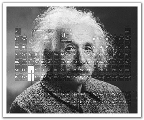 """JP Londres pos2546u-strip Peel y Stick Einstein Science de la tabla periódica Nerd extraíble pared adhesivo Mural, 19.75""""por 24"""""""