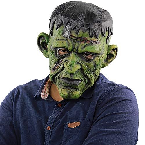PanDaDa Halloween Gesichtsmaske für Erwachsene, Green Head Monster Freak Maske für Halloween Scary Balaclava Gesichtsmaske Kostüm Party Creepy Dekoration - Freak Kostüm Party