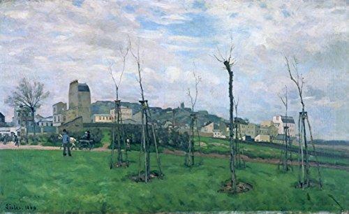 Das Museum Steckdose Hinblick auf Montmartre aus dem Museum Cite des Fleurs, Les Batignolles, 1869-Poster (Medium)