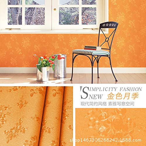 Verdicken Sie selbstklebende Tapete Schlafzimmer Wandaufkleber Tapete Wohnzimmer TV Hintergrund Tapete geprägt goldene Rosenblüten -