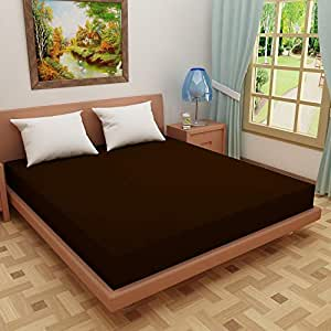 """Glassiano Waterproof Dustproof Terry Cotton Mattress Protector for Single Bed, 72""""x30"""", Coffee"""