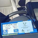 Custodia per permesso disabili con disco orario integrato.