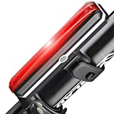 YZCX Luce Posteriore Bicicletta, LED luce Impermeabile IPX4 per Bici, 120 lumen USB Ricaricabile 6 modalità luce Adatto per TUTTE le Biciclette e Caschi per Ottimale Ciclismo Sicurezza