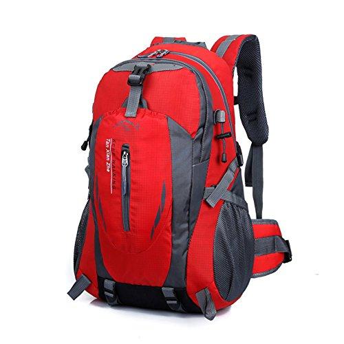 Imagen de 40l  bolsa de deporte escalada acampada al aire libre impermeable nylon rojo