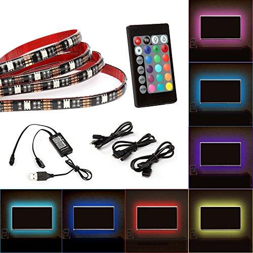 TV LED Hintergrundbeleuchtung Arbeitet mit Alexa, Google Home, Wifi Wireless Smart Phone Gesteuert LED Steifen 2m Kit,RGB USB Fernbedienung