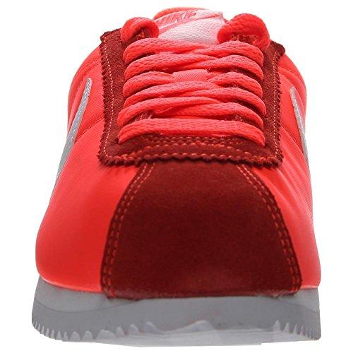 Nike Wmns Classic Cortez Nylon, Chaussures de Sport Femme Orange - Naranja (Total Crimson / White)