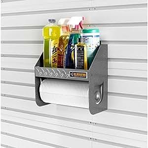RELOOKING GARAGE - Support rouleaux essuie tout - à clipser sur panneaux/canaux muraux - GAWU12CCTG