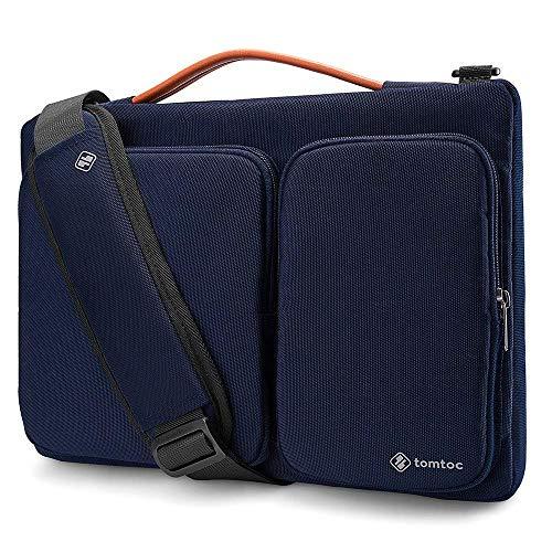 tomtoc Bolsa de hombro para laptop para MacBook Pro Retina de 15' antigua   Dell XPS 15   Microsoft Surface Book 2, estuche de protección original de 360 ° con armarios de esquina y accesorios
