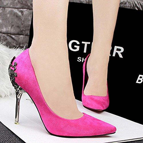 Azbro Women's Pointed Toe Wedding Party Stiletto Pumps Shoes Black