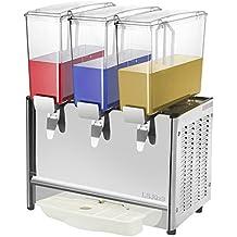 Cablematic - Máquina dispensadora de zumos y bebidas frías comerciales de 9L x 3 tanques
