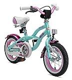 Laufrad Vergleich BIKESTAR Premium Sicherheits Kinderfahrrad 12 Zoll für Mädchen ab 3 - 4 Jahre ★ 12er Kinderrad Cruiser ★ Fahrrad für Kinder Mint bei Amazon