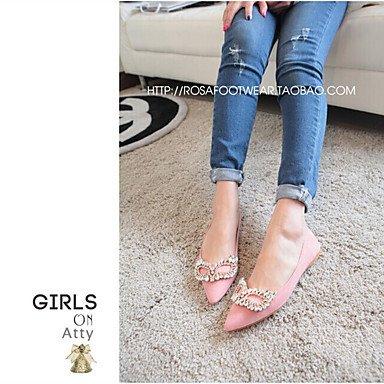 Confortevole ed elegante piatto scarpe donna Appartamenti Primavera / Estate / Autunno Comfort / Punta / punta chiusa Casual tacco piatto scintillante Glitter/ Pink