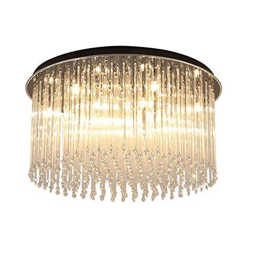 Murano-metall-kronleuchter (Einfache moderne kristall deckenleuchte kristall quasten schlafzimmer lampe warme romantische runde led-deckenleuchte schlafzimmer studie beleuchtung , 60cm)