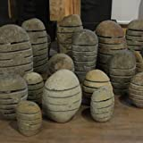 Wuona Objects Steinlampe M Fluss-Stein 30-40 cm Gartenlampe Handarbeit Bali