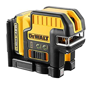 DEWALT DCE0825D1G 10.8V 5 Spot Cross Line Green Laser (1 x 2.0Ah Battery), Yellow/Black