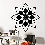 Vinyl wandtattoo abnehmbare mandala wandaufkleber namaste yoga wandkunst mural böhmischen hause schlafzimmer dekoration yoga kunst a11 57 * 57 cm
