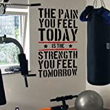 Best Motivational Wall Decals - Pain Today Strength Tomorrow Gym Motivational Wall Decal Review