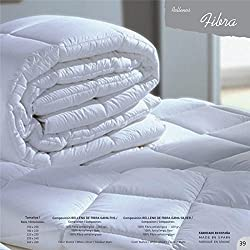 Mila Rosa 11502 - Relleno nórdico de fibra hueca siliconada, 150 x 220 cm, color blanco