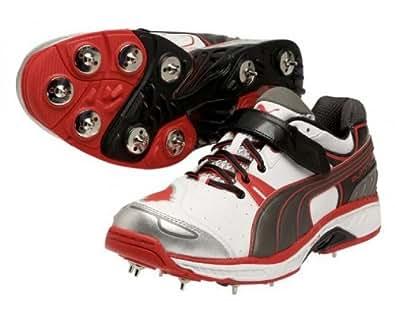 Puma Men's Platinum Full Spike White Sport Cricket Shoes - 8 UK/India (42 EU)