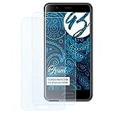 Bruni Schutzfolie für Blackview P6000 Folie, glasklare Bildschirmschutzfolie (2X)