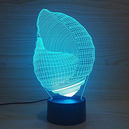 rührungsschalter 3d Lampen-Neuheit führte ScheinwerferHalloween7 der Farbenänderungs-Schreibtischlampe derBeleuchtungs-3d ()