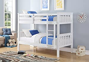 Ideal Furniture Novaro White Wooden Bunk Bed